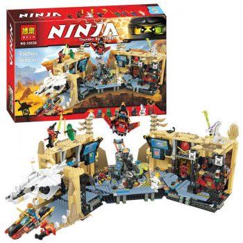 Конструктор Bela Ninja 10530 «Хаос в Х-пещере Самураев» 1307 деталей. Аналог Lego Ninjago 70596