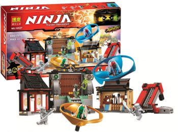 Конструктор Bela Ninja Ниндзя го  10527 «Боевая площадка Аэроджитцу» 686 деталей. Аналог Lego Ninjago 70590