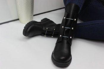 Зимние женские ботинки Hermes (гермес)  Болты КОЖА