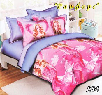 Полуторное постельное белье Тет-А-Тет  Барби 584