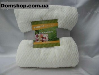 Плед покрывало из бамбуковых волокон Koloco Silk Bamboo Молочный