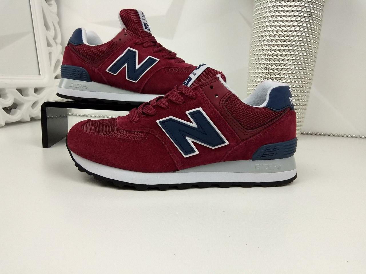 Женские кроссовки New Balance бордо + синий Нью Беланс 1244 7818fcf6d8a