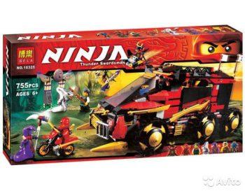 Конструктор Bela (аналог LegoNinjago 70750 )10325ниндзяго Ниндзя NINJA Мобильная база Ниндзя 775 деталей