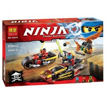 Конструктор Bela Ninja  10444   Ниндзя го  «Погоня на мотоциклах» 230 деталей