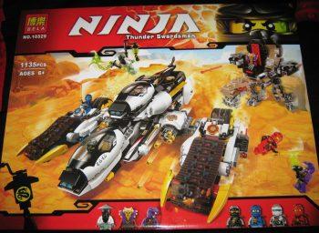 Конструктор Bela Ninja 10529 «Ультра Стелс Рейдер». Аналог Lego Ninjago 70595