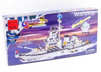 Конструктор «Военный корабль» 970 деталей Brick-112