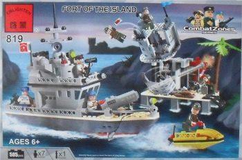 Конструктор BRICK 819 «Военный корабль» 505 деталей