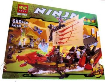 Конструктор Bela Ninja 9762 Летучий корабль 680 деталей