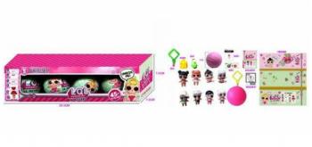 Кукла Лол сюрприз RMT-BK-LQL D1208847 (в коробке-4шт,размер-29.5*7.5*7.5 Cм)