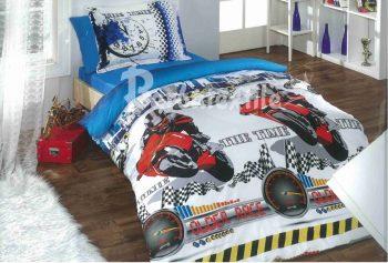 Полуторное постельное белье  Мотоциклы  ТМ Дама