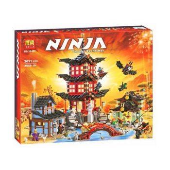 Конструктор Bela Ninja 10427 «Храм Аэроджитцу», 2031 деталей