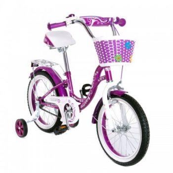 Велосипед двухколесный16″ SW-17017-16 фиолетовый с корзиной