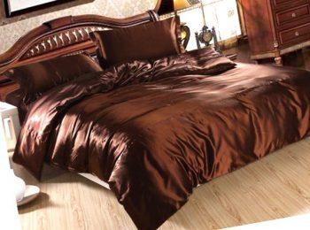 Шоколад атласное постельное белье