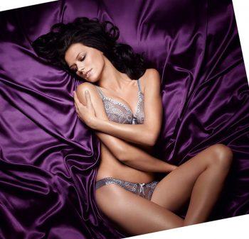 Фиолетовое атласное постельное белье