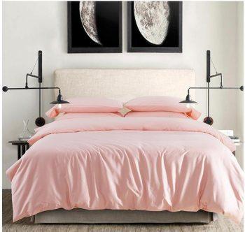 Персиковое   атласное постельное белье