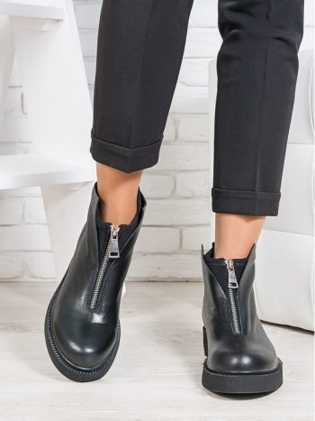 Ботинки черные натуральная кожа 6697-28