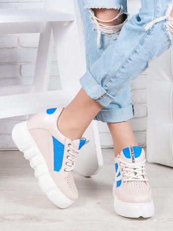 Женские кроссовки Летние сникерсы пудра 6875-28