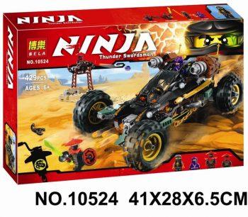 Конструктор Bela Ninja Ниндзя го 10524 «Горный внедорожник» 429 деталей. Аналог Lego Ninjago 70589