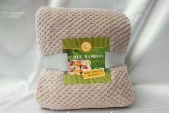 Плед покрывало из бамбуковых волокон Koloco Silk Bamboo Кофейный