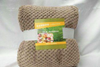 Плед покрывало из бамбуковых волокон Koloco Silk Bamboo Коричневый