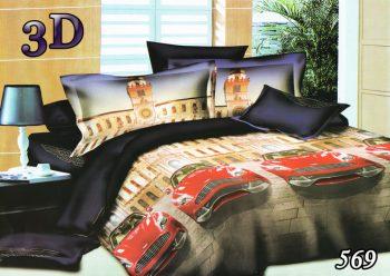 Полуторное постельное белье Тет-А-Тет Машина 569