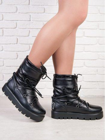 ЛУНОХОДЫ BLACK Moon Boot (чорные)