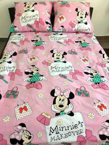 Полуторное постельное белье   Мисс Минни на розовом ТМ Дама