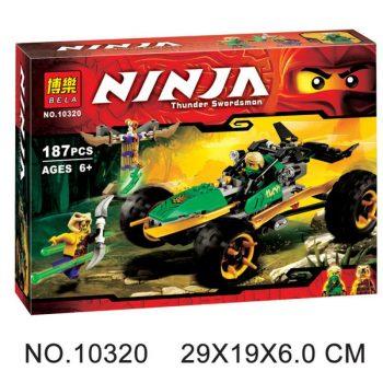 Конструктор Bela Ninja 10320 «Тропический Багги Зеленого Ниндзя» 187 деталей