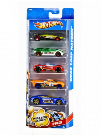 Подарочный набор автомобилей Hot Wheels (5 шт.)