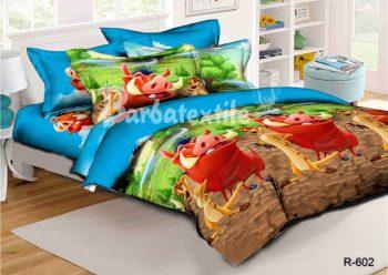 Полуторное постельное белье Тимон и Пумба  ТМ Дама