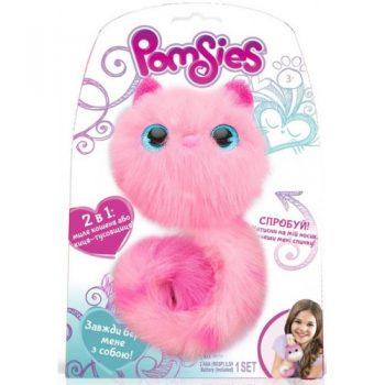 Интерактивная пушистая кошечка POMSIES ,ФЛАФФИ Pomsies Speckles Plush Interactive Toys, Purple,Lavender,