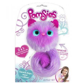 Интерактивная пушистая кошечка POMSIES ,ФЛАФФИ Pomsies Speckles Plush Interactive Toys, Purple,Lavender, Купить в Украине